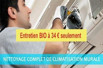 34 € un entretien professionnel BIO et COMPLET de votre climatiseur (déplacement compris)
