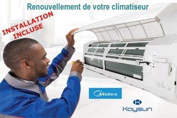 Renouvelez votre climatiseur par un climatiseur neuf A++ de qualité pour 439 € (déplacement et pose comprise)