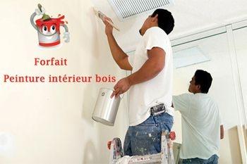 Pour MAISON NEUVE EN BOIS FORFAIT PEINTURE INTERIEURE à 14 €/m2  par un peintre professionnel qualifié