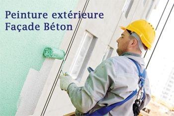 800€ au lieu de 1000€ une peinture façade  béton pour votre maison avec Deals Guadeloupe