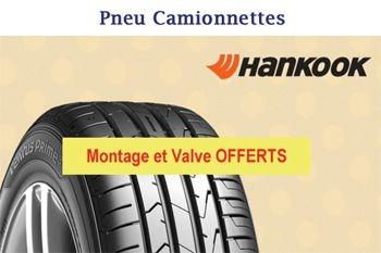 92 € un pneu de marque Hankook pour votre Camionnette - montage et valve offerts