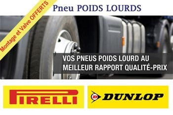 A partir de 519,93 € un pneu de marque Pirelli pour votre camion poids lourd avec montage et valve offerts