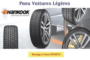 A partir de 38 € un pneu de marque Hankook pour votre voiture légère - montage et valve offerts
