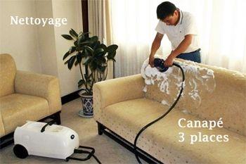Nettoyage complet et shampoing de votre canapé 3 places par un professionnel expérimenté sur Deals Guadeloupe (déplacement compris)