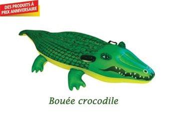 BOUÉE GONFLABLE CROCODILE 168 CM
