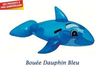 BOUEE DAUPHIN BLEU TRANSPARENT 157 CM GONFLABLE