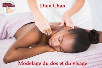 Profitez d'un modelage relaxant du dos plus modelage Dien Chan du Visage à moitié prix sur Deals Guadeloupe