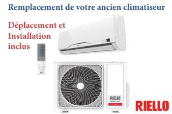 399€ au lieu de 450€ le remplacement de votre vieux climatiseur par un climatiseur neuf A++  RIELLO proposé par Deals Guadeloupe