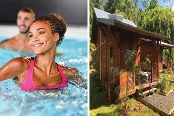 114,50€ au lieu de 179,50€ / nuit pour profiter en amoureux de ce combiné Aquafitness ou Aquabike pendant 3 jours - Ecolodge de luxe, piscine et vue mer avec Deals Guadeloupe