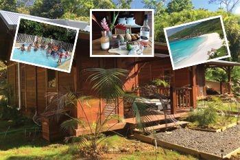 329€ ce forfait à 4 (coaching aquafitnes et natation plus 3 nuits en bungalow de luxe) avec Deals Guadeloupe