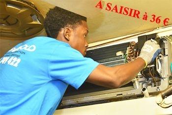 36€ au lieu de 65€ un Entretien professionnel complet de votre climatiseur à un prix sans concurrence (déplacement compris) sur Deals Guadeloupe