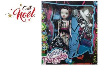 Tout un Nouveau Monde pour Noël avec cette poupée Gothic Angels et ses accessoires