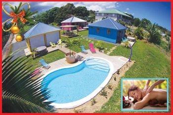 Un forfait Noël massage avec séjour de 2N/4 Pers dans un superbe bungalow (Jacuzzi individuel, piscine, jolie vue mer)