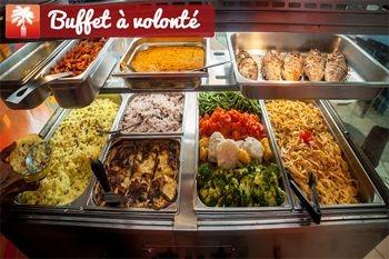 Régalez vous à deux pour 38,50€ ou en famille (9€/enfant) avec un buffet à volonté au restaurant Les Cocotiers de Trois-Rivières