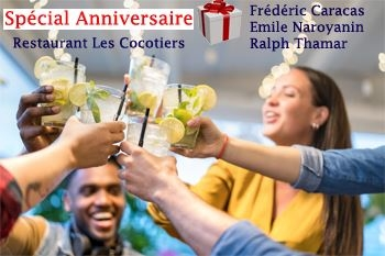 Le Robert –Rendez-vous en duo à la soirée anniversaire du restaurant Les Cocotiers Mada samedi 04 juillet 2020. Soirée Zouk après le dîner avec trois des plus grands chanteurs antillais