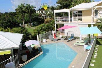 Saint François – Pack Majesty avec 2 Nuits offertes pour 6 Nuits achetées soit 111.30€/nuit au Majesty Palm & Spa 2 pers. en Suite de Luxe, Spa privé et piscine