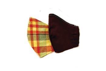 Un Masque en tissu Madras ou Marron pour vous protéger du virus